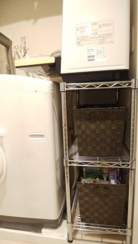 洗面所に洗濯機と食洗機を置く