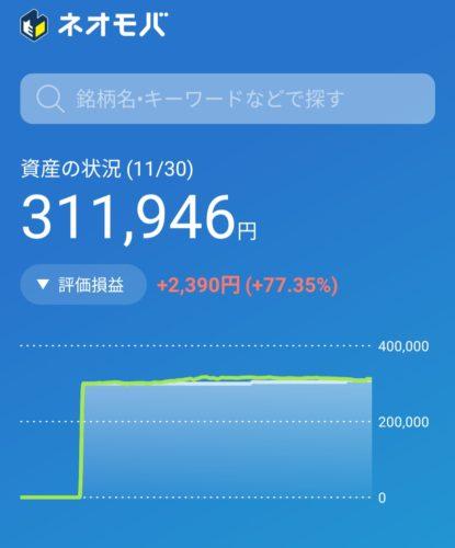 ネオモバイル証券30万円スタート